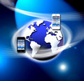 Apps On A Secure Mobile Wireless Network Stock Photography - 22446142