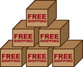 Free Shipping Boxes Royalty Free Stock Photo - 22447325