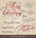 Christmas Hand Lettering Set (vector) Stock Photography - 22466952