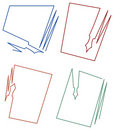 Paper And Pen Frame Designs Stock Photo - 22468040