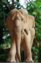 Asian Elephant Carve Made By Wood Stock Images - 22475744