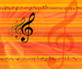 Music Notes Background Royalty Free Stock Image - 2254816