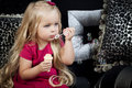 Little Girl In A Fashionable Luxury Interior Stock Photos - 22507303
