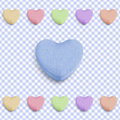 Blue Candy Heart Royalty Free Stock Photography - 22511547