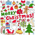 Merry Christmas Notebook Doodles Stock Photography - 22511692