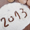 Ready For New Year S Cake Royalty Free Stock Photography - 22520747