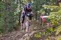 Downhill Cyclocross Bike Race Royalty Free Stock Images - 22521159