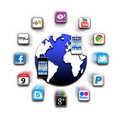 Apps Iphone Mobile World Network  Royalty Free Stock Photo - 22546315