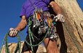 Rock Climber On The Summit. Royalty Free Stock Image - 22546966