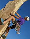 Rock Climber On The Summit. Stock Images - 22547024