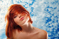 Summer Teen Girl Beautiful Freckles Redheaded Stock Image - 22562171