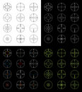 Crosshairs Set Royalty Free Stock Images - 22595769