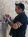 Prayer In The Western Wall Royalty Free Stock Photos - 22610098