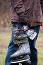 Man And Son Going To Ice Skate Royalty Free Stock Images - 22615239