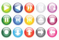 Glossy Glass Buttons For Website Icons Stock Photos - 22634393
