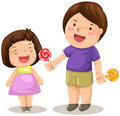 Boy And Girl Share Candy Royalty Free Stock Photo - 22658285