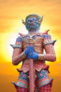 Giant At Thailand Temple Royalty Free Stock Photos - 22663788