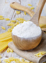 Wooden Spoon With Flour Stock Image - 22666041