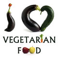 I LOVE VEGETARIAN FOOD Royalty Free Stock Photo - 22670405