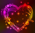 Beautifull Bright Heart With Floral Ornament Stock Photos - 22688853