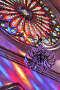 Round Stained Glass Window Of Church Royalty Free Stock Image - 22700906