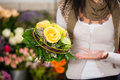 Female Florist In Flower Shop Stock Images - 22711154
