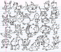 Doodle Sketch Animal Vector Design Set Stock Images - 22734804
