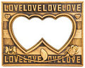 Love Gold Frame Stock Photos - 22742803
