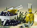 Olive Oil And Olives Royalty Free Stock Photo - 22745205