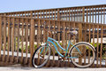 Blue Bicycle At The Beach Stock Photos - 22758873