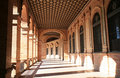 Spanish Architecture At Plaza De Espana, Seville Royalty Free Stock Photography - 22761107