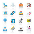 Airport And Transportation Icons Royalty Free Stock Photography - 22774147