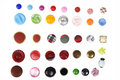 Many Different Buttons Isolated Royalty Free Stock Photo - 22781465
