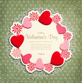 Vintage Frame With Hearts To Valentine S Day Royalty Free Stock Photography - 22781817