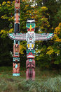Stanley Park Totem, Vancouver Royalty Free Stock Images - 22799969