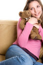 Teddy Bear Girl Royalty Free Stock Photos - 2283178