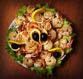 Fried Shrimp On White Plate In Resturant Stock Photos - 22802183