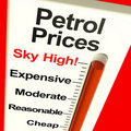 Petrol Prices Sky High Monitor Royalty Free Stock Images - 22811559