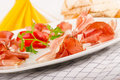 Prosciutto Appetizer Royalty Free Stock Images - 22823519