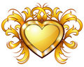 Vintage Golden Heart Stock Images - 22823674