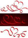 Red Tape In The Form Of Hearts. Royalty Free Stock Image - 22832096