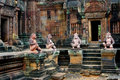 Angkor Temple Of Banteay Srei, Cambodia Royalty Free Stock Photo - 22845405