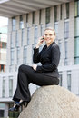 Telephoning Businesswoman Royalty Free Stock Photos - 22864398