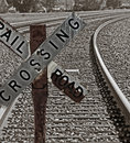 Old Railroad Crossing Sign Stock Photography - 2291122