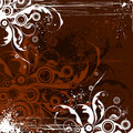Chocolate Flowers Background Stock Image - 2294961