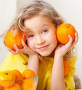 Child With Oranges Royalty Free Stock Image - 22900576