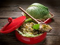 Risotto With Savoy Cabbage Stock Photo - 22900900