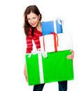 Cute Young Girl With A Gift Stock Photos - 22901673