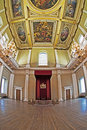 Throne & Rubens Ceiling At The Banqueting House Royalty Free Stock Images - 22913699