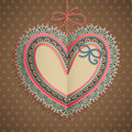 Valentine`s Day Vintage Card With Heart Stock Photos - 22917073